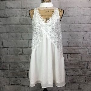 Boohoo white lace (free people inspired) dress